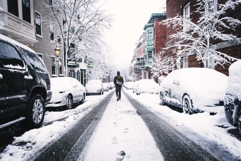 雪でも滑らない対策