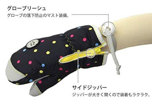 完全防水手袋ジッパー