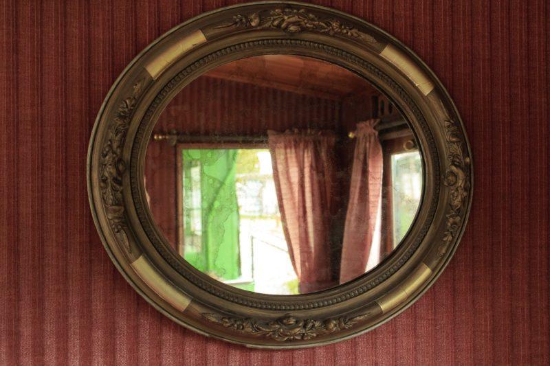 鏡の位置と形