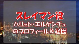 ハリット・エルゲンチュ(スレイマン役)のプロフィールや経歴