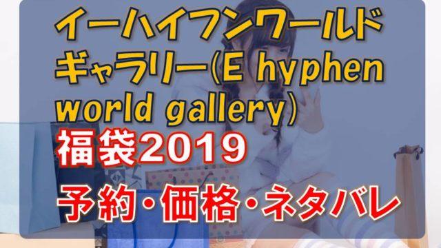 イーハイフンワールドギャラリー(E hyphen world gallery)_福袋2019